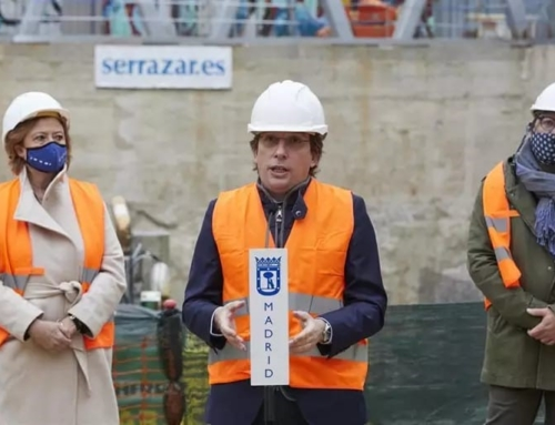 Visita del Alcalde de Madrid a las obras de La Cebada